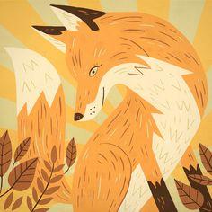 Shop: Owen Davey: Fox at Folio illustration agency Illustration Agency, Fantastic Fox, Fox Art, Woodland Creatures, Illustrators, Art Prints, Drawings, Artwork, Creative Review