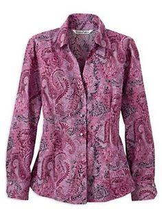 Silk Cotton Split Neck Paisley Blouse | #WinterSilks #paisley
