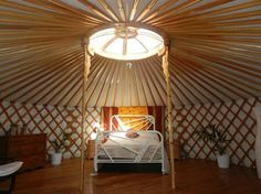 Yurt : 'Cloud House' Traditional Mongolian Ger, Off Grid Home, Movement Studio, Guest House Wood Stove Chimney, Yurt Interior, Interior Design, Vinyl Cover, Grid, Hardwood, Yurt Living, Gypsy Living, Houses