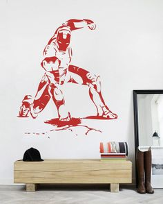 superhero ironman wall decal for Kids boys bedroom by ilovemyhome