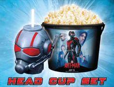 Marvel-ANT-MAN-Cinema-Movie-Figure-Topper-Head-CUP-Popcorn-Bucket-Limited