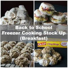 Back to School Freezer Cooking Breakfast Stock Up