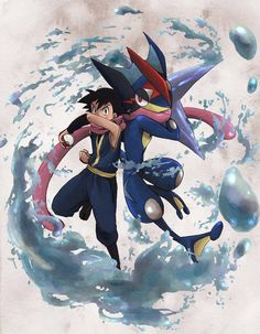 Ash e Greninja - Pokemon Pokemon Gif, Mega Pokemon, Pokemon Eevee, Pokemon Comics, Pokemon Images, Pokemon Fan Art, Pokemon Pictures, Cute Pokemon, Charmander