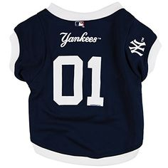 New York Yankees  Team Colors Dog Jersey  XLarge * Check out this great product.