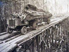 Logging some time ago.