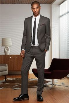 Buy Brown Skinny Fit Suit: Jacket from the Next UK online shop