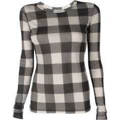 Rag & Bone Classic Plaid Tee (120 CAD) ❤ liked on Polyvore featuring tops, t-shirts, shirts, 10. tops., crew neck long sleeve t shirt, jersey t shirt, tee-shirt, long sleeve tees and long sleeve jersey shirt