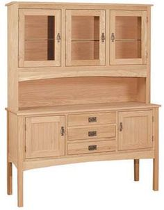 Pine Shaker Hutch Only Also In Maple Oak