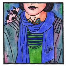 """Thyroid Art: """"Thank you, Piggies"""" by Tangerine Meg - limited edition handcoloured lino print Linoprint, Butterfly Shape, 21st Gifts, Abstract Nature, Our Body, Hand Coloring, Printmaking, Nature Photography, Artsy"""