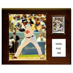 C and I Collectables MLB 15W x 12H in. Yasiel Puig Los Angeles Dodgers Player Plaque - 1215PUIG
