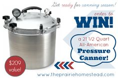 21 1/2 quart all american pressure canner