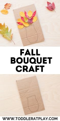 This Fall Bouquet Craft is the perfect craft idea for Fall. #fallcrafts #fallcraftsforkids #kidscrafts #naturecrafts #natureinspiredcrafts Fall Arts And Crafts, Easy Fall Crafts, Fall Crafts For Kids, Craft Projects For Kids, Arts And Crafts Projects, Toddler Crafts, Fun Crafts, Craft Ideas, Outdoor Activities For Kids