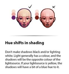 """Drawing Tutorial drawingden: """"Little Lessons - 4 Hueshifts in Shading by Fawngoo """" - Digital Painting Tutorials, Digital Art Tutorial, Art Tutorials, Drawing Tutorials, Digital Paintings, Digital Drawing, Digital Art Anime, Anatomy Reference, Art Reference Poses"""