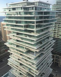 Beirut Lebanon new highrise beirut terraces by herzogdemeuron photo by miaskamla nextarch next top architects via next top architects- stunning, design Architecture Magazines, Art And Architecture, Maya Photo, Interesting Buildings, Design Research, Modern Buildings, Green Building, Skyscraper, Instagram