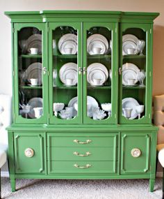 China cabinet display by Dimples and Tangles
