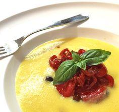#Vellutata di #mais con caponatina di verdure rosse all'agro #mangiaredadio #foodporn #vegan #recipe