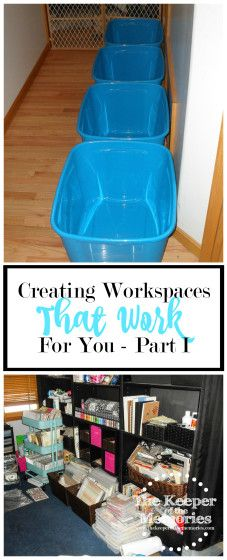 Too much stuff and too little space? Are you frustrated and overwhelmed with your creative space? If you're ready to create separate workspaces, read this post to find out how.