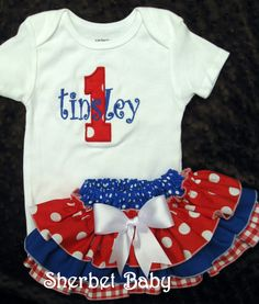 Charming Baby Outfit For The 4th of July