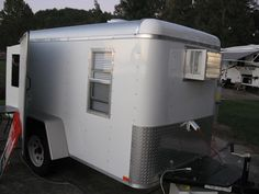 Life as I live it: Utility Trailer/Camper Home Made Camper Trailer, Utility Trailer Camper, Bug Out Trailer, Cargo Trailer Camper Conversion, Converted Cargo Trailer, Enclosed Cargo Trailers, Vintage Trailers, Camper Trailers, Campers
