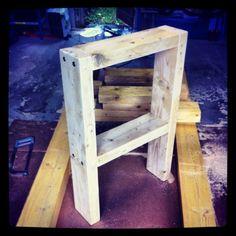 Bricolage DIY : Fabriquer son établi en bastaing (étape 2, le plan de travail)