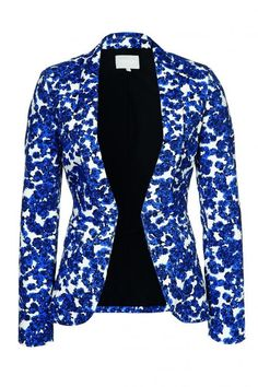 Blauw gebloemde blazer van Zalando Collection @ Zalando ♥ Flowerpower