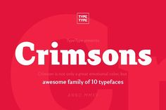 TT Crimsons by TYPETYPE on @Graphicsauthor