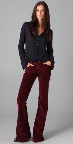 Volcom Liberator Burgundy Corduroy Skinny Pants | Denim jackets ...