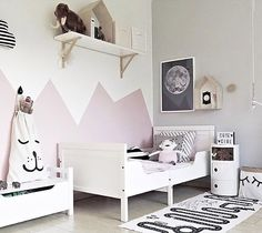 A cute little girl's room | OYOY Adventure rug available at www.istome.co.uk