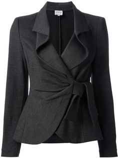 ~ Living a Beautiful Life ~ Armani Knotted Skirt Suit - absolute NEED! I love this jacket! Would definitely wear it with pants though. Office Fashion, Work Fashion, Suit Fashion, Armani Grey, Business Outfit, Business Fashion, Jackett, Work Attire, Mode Style