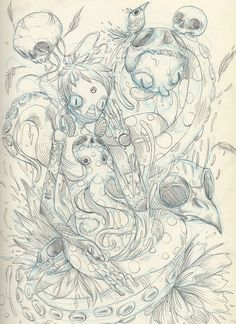 Sketchbook 2012 by Raul Urias, via Behance