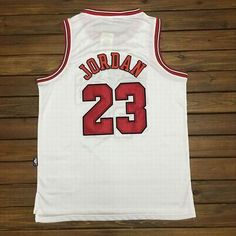 Mitchell Ness Chicago Bulls #23 Michael Jordan White Swingman Jersey