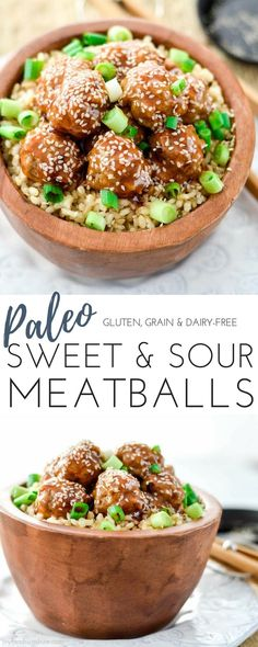 Paleo Sweet and Sour Meatballs! The perfect quick & easy weeknight recipe that everyone in your family will love! #paleo #meatballs #dinner #recipe #glutenfree #dairyfree #grainfree