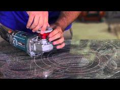 How to Polish Granite Counters DIY and Professionals Learn how to top po. Granite Countertops Colors, Refinish Countertops, Granite Backsplash, Outdoor Kitchen Countertops, Granite Tops, Granite Kitchen, Kitchen Island, Kitchen Cabinets, Kitchen Counters