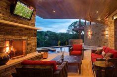 Luxurious outdoor living room