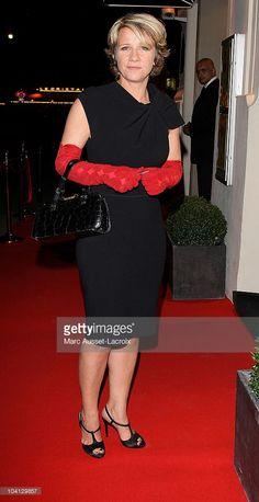 Photo d'actualité : TV presenter Ariane Massenet poses at Canal +...