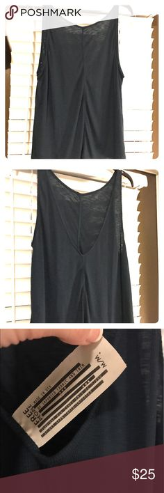 Free people Open back tank Teal with front ruching long line tank by Free People Free People Tops Tank Tops