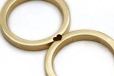 Versprechung Ring Ehering in 14 Karat Gelbgold Gold von CADIjewelry