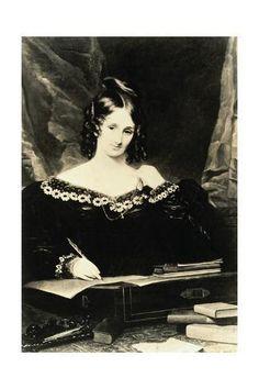 Mary Shelley aka Mary Wollstonecraft Godwin, writer of Frankenstein Mary Shelley, Essayist, Playwright, Writers And Poets, Portraits, Women In History, I Love Books, Book Authors, Amazing Women