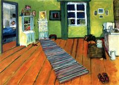 Interior (also known as Still Life, Bedroom) by Gabrielle Münter - 1909