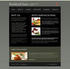 Cooking School Website Templates by Delta
