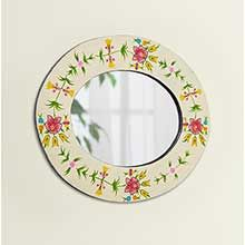 Great value with our Hand Painted Recycled Tyre Oval Mirror only at Traidcraft. Help fight poverty through trade!