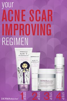 Help keep #acne at bay and improve the appearance of acne scars with these four products.