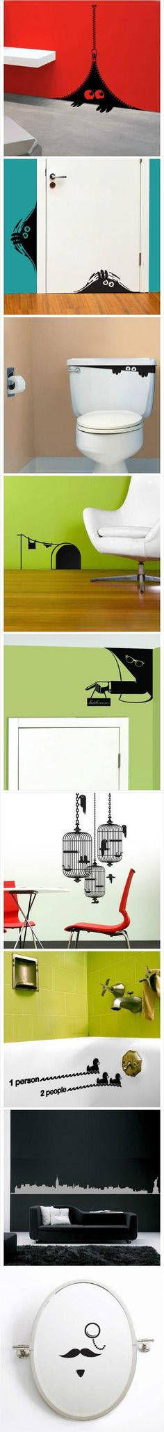 Simple yet really cool wall stickers, which one is your favorite?
