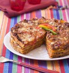 Lasagne de tortillas au boeuf et poivron - Recettes mexicaines