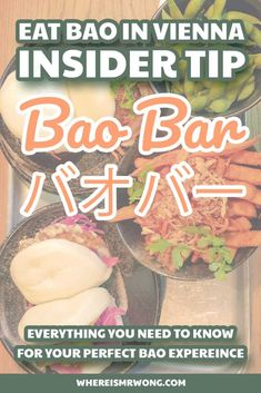 Ever since the Bao Bar opened in Vienna, I am a frequently there eating Bao and sweet potato fries. Now the time to write about them has finally come. Chinese Street Food, Asian Street Food, Homemade Lemonade, Homemade Ice, Edamame, Bao Bar, Tofu, Best Vegetarian Restaurants, Fast Food Places