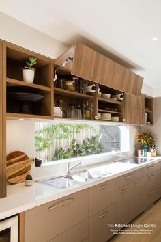 Super cool kitchen design ideas in polytec Sepia Oak Ravine. http://www.polytec.com.au/colour/sepia-oak/