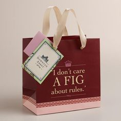 Downton Abbey Collection ~Small Downtown Abbey Fig Gift Bag   #WorldMarket Holiday Gifts, #DowntonAbbey #spon