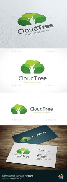 Cloud Tree by LayerSky Logo Template Scalable Vector Files Everything is editable Everything is resizable Easy to edit color / text Free fon 2 Logo, Logo Branding, Branding Design, Garden Care, Logo Design Template, Logo Templates, Logo Arbol, Logo Garden, Church Logo