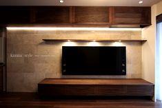 オーダーメイド壁面収納 | 神戸のオーダー家具【kanna】テレビボード・テーブル・キッチン等をあなた好みに提案する家具屋 | ページ 2 Living Room Tv, Wood Cabinets, Homemaking, Minimalism, Interior Design, Wall, House, Furniture, Salons