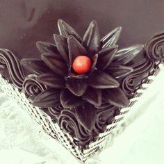Dark chocolate flower